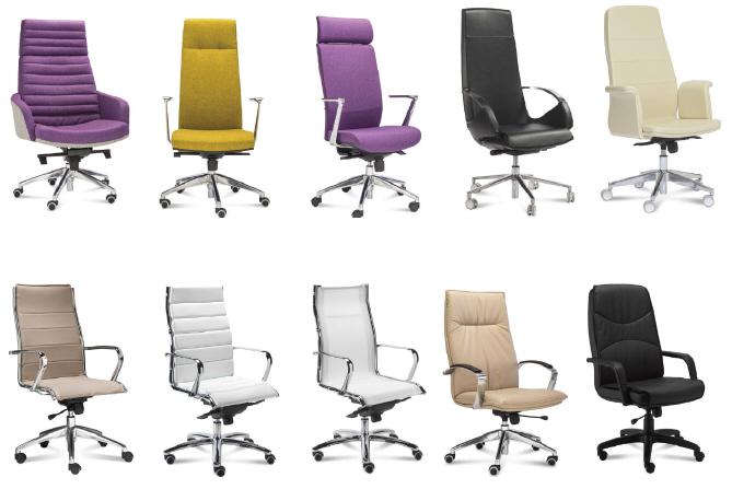 Włoskie nowoczesne fotele gabinetowe i biurowe